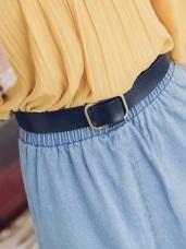 純色簡約金屬釦皮帶