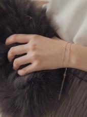 簡約層次優雅珠飾手鍊