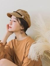 編織裝飾徽章釦帶絨面軍帽